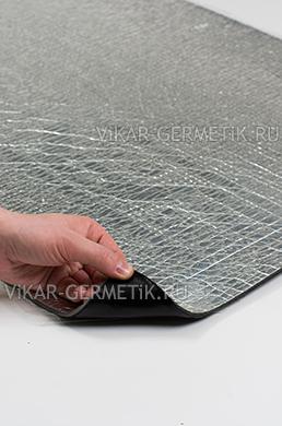Лист ВИКАР ЛТ(фи) размер 1000х600мм толщина герметика 2мм толщина фольгоизолона 4мм