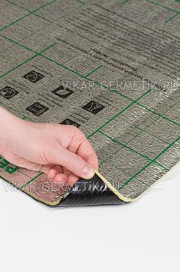 Лист ВИКАР ЛТ(пл) размер 1000х600мм толщина герметика 2мм толщина пенофола 4мм