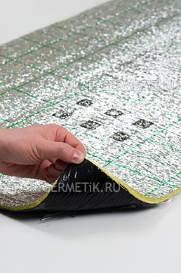 Лист ВИКАР ЛТ(пл) размер 1000х600мм толщина герметика 2мм толщина пенофола 8мм
