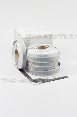 Лента ВИКАР ЛТ(и) бутилкаучуковая ширина 30мм толщина герметика 2мм толщина изолона 2мм