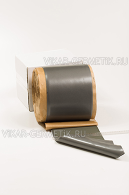 Лента ВИКАР ЛТ(и) бутилкаучуковая ширина 200мм толщина герметика 2мм толщина изолона 2мм
